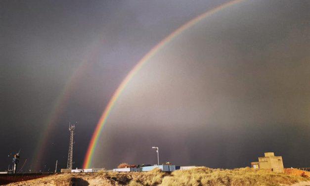 A Rainbow of hope over Blyth!